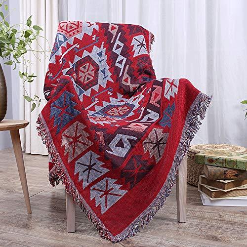Yuqianqian Kuscheldecke/Wohndecke für Sofa und Bett Europäische Art-weiche Starke Wurfs-Decke Multifunktionale Freizeit-Decke Nickerchen-Decke Reisedecke for klimatisierten Raum (Decke Art Raum)