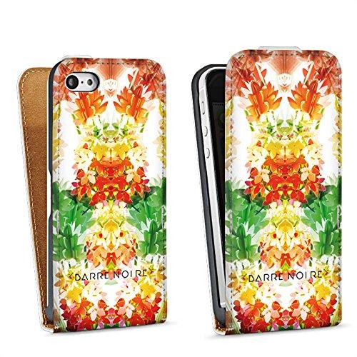 Apple iPhone 4 Housse Étui Silicone Coque Protection Fleurs Fleurs Motif Sac Downflip blanc