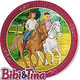 8 Teller * BIBI & TINA * für Kinderparty und Kindergeburtstag von DH-Konzept // Blocksberg Pappteller Partyteller Party Set