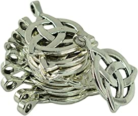 NF&E 10 Pieces Tibetan Silver Triangle Celtic Knot Jewelry Making Charms Pendant