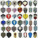 sanfeng 126pcs/42Sets Durable Muster Standard und Slim Pet Aluminium Dart Flüge für Edelstahl Soft-Tip Darts Set Zubehör Equipment Supplies für Dart Spiele