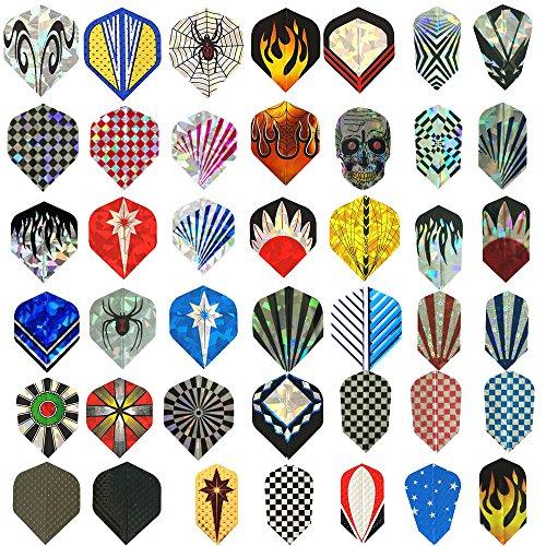 Sanfeng 17conjuntos conjuntos de juegos/21/27/30sets/42Juegos Durable patrón estándar y acero para dardos de punta blanda para dardos accesorios de aluminio fino mascota suministros de equipo para juegos de dardos, 42 sets-126pcs
