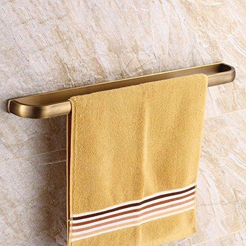 LHbox Tap Handtuchhalter Antik Kupfer Bad Handtuch Rackmount-Server In antiken Dusche Handtuchhalter Einhebelsteuerung, Kupfer Bohranlage 57,5 cm Antik-server