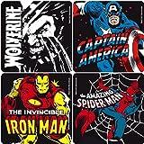 Marvel Superhelden - Retro Untersetzer 4er Set