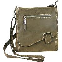 Handtasche Schultertasche UMHÄNGETASCHE Used Optik VON Bag Street, Riegel