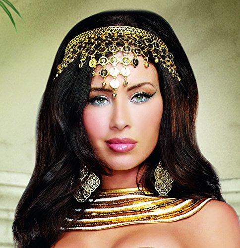 Dreamgirl Orientalische Stirnband, gold farben für Cleopatra oder Bauchtänzerin oder ()