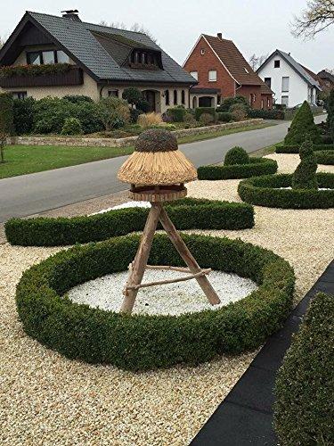 Vogelhaus Sylt mit Reetdach (rund 74 cm Durchmesser (mit Ständer)) - 4