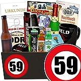 Geschenk zum 59. Geburtstag | Geburtstag Mann Geschenkideen | GRATIS DDR Kochbuch | Männer Set