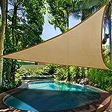 Jannyshop Sonnensegel, Terrasse Sonnenschatten Segel-Baldachin Anti-UV zum Schwimmbad Outdoor Camping Einrichtung und Aktivitäten (3,6 * 3,6 Meter, Sandgelb)
