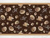 I-love-Wandtattoo b-10075 Küchenbordüre Coffee - Kaffeebohnen und Kaffeetassen Bordüre Küche Kaffee Wanddeko