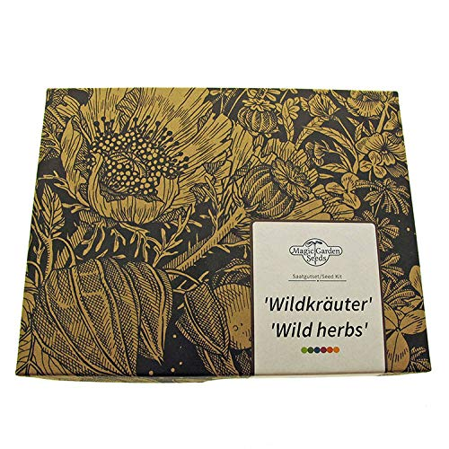 'Wildkräuter' Samen-Geschenkset mit 7 wilden Heil- und Würzkräutern