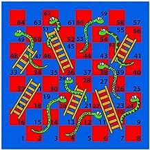House of Kids 12112-e3Juego Serpiente/escalera poliéster, 100x 0,5x 100cm, multicolor