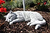 Steinfigur Grosse Katze schlafend, frostfest bis -30C, massiver Steinguss