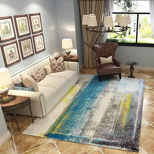shuhong Area Rug Runner Weiches Plüsch Wohnzimmer Schlafzimmer Studieren Sie Soft Carpet Abstract Kunst-Tusche-Anstrich-Muster-Matte,F-120 * 160CM -