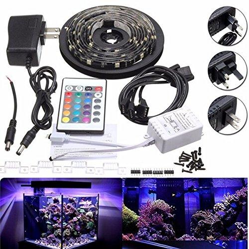 Bazaar 4 x 50cm 5050 RGB LED Streifen Licht Farbwechsel Mood Lighting TV Hintergrund Aquarium Lampe DC12V (Fish Tank 50 Licht)