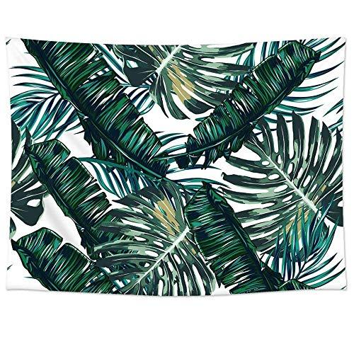 Pareo estampado hojas tropicales tejido