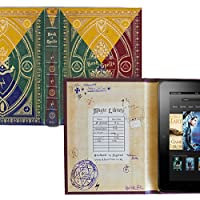 Harry Potter Inspired Book of Spells Cover for Amazon Kindle Fire and 7 Inch Tablets (Hogwarts 4 Colours)