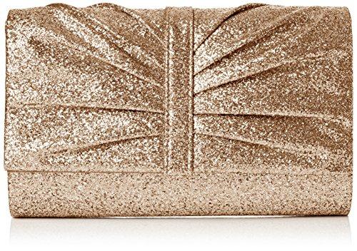 SwankySwans Damen Serafina Shimmer Glitter Clutch Bag Gold Tasche, Goldfarben, One Size (Green Velvet Tasche)
