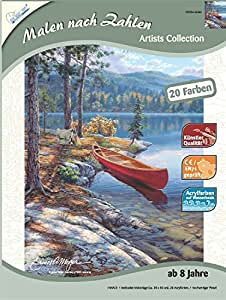 Mammut 107004 - Malen nach Zahlen - Artists Collection klein - Boot am See