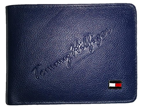 Tommy Blue Leather Wallet for men (Bifold)