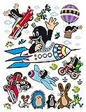 AG Design DK 2306 Kinderzimmer Wand Sticker, PVC-Folie (Phtalate-Free), Mehrfarbig, 65 x 85 cm