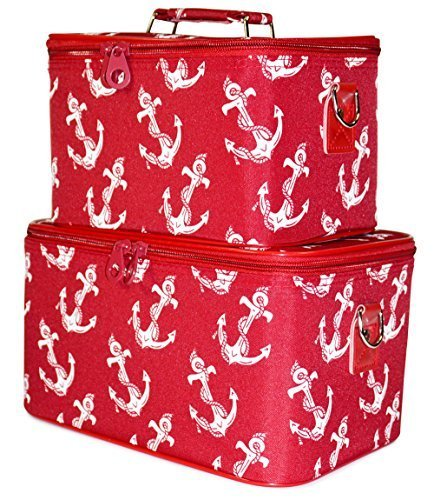 ever-moda-red-nautical-anchors-cosmetic-makeup-train-case-2-piece-set-by-ever-moda