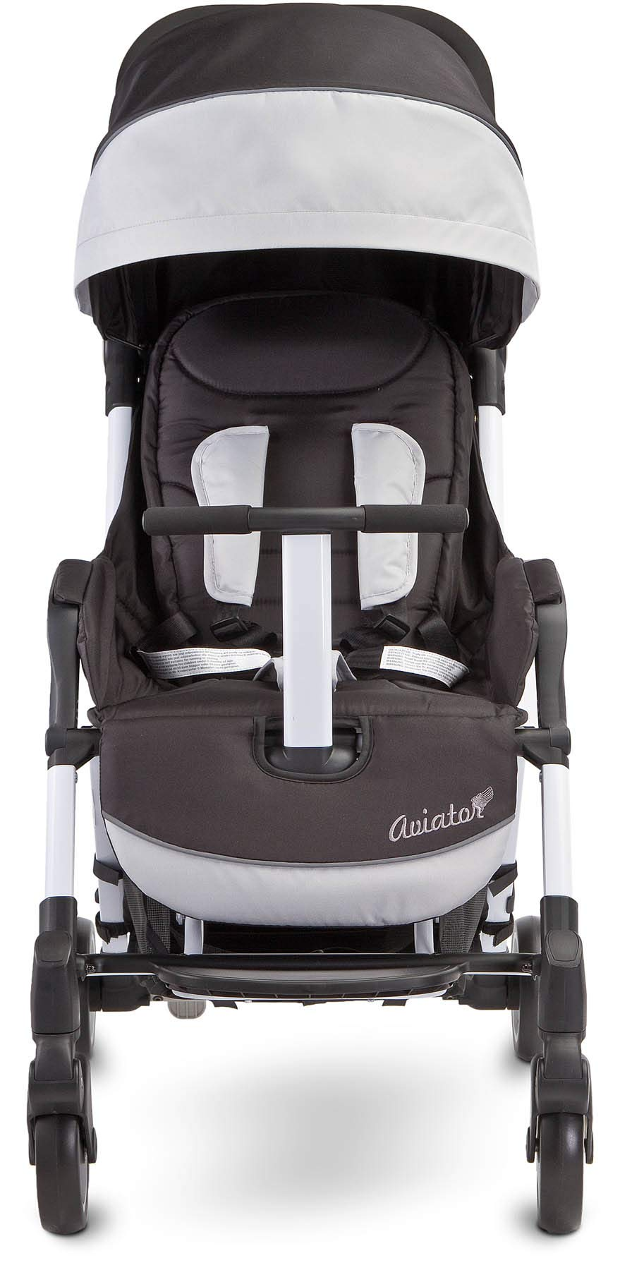 Aviator Ultralight Pushchair Grey Caretero Stroller for babies from 6 months Month weighing up to 15 kg Compact size and light weight (7.1kg) for easy manoeuvring and transport Eva foam wheels front with cushioning for driving comfort 4