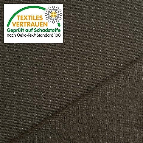 OEKO-TEX® Tela de algodón de jersey - Elástica, ligera y sencilla de usar - 11 colores - Por metro (Gris