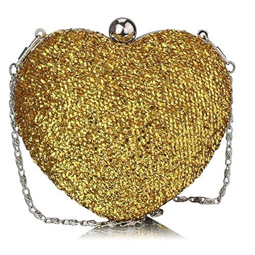 L And S Handbags, Poschette giorno donna Gold