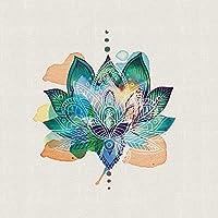 "Summer Thornton ""Lotus Flower"" Canvas Print, Cotton, Multi-Colour, 3.20 x 40.00 x 40.00 cm"