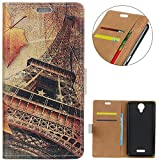 KM-WEN® Case for Wiko Jerry 2 (5 Inch) Book Style Maple