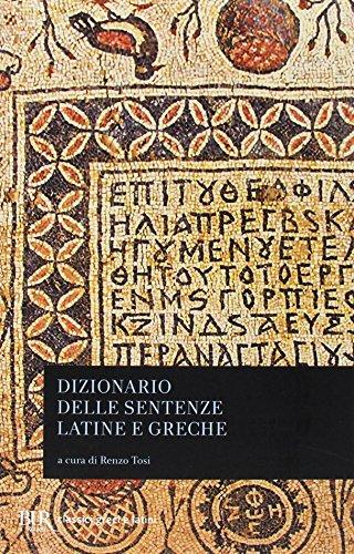 Dizionario delle sentenze latine e greche