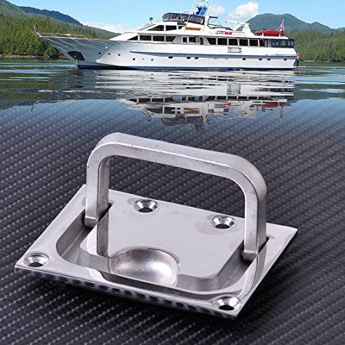 BEEAUTO 2Pcs Hohe Qualität 316Edelstahl für Boot Marine Caravan Flush Hatch Spind-Schrank Lift Pull Griff Hardware