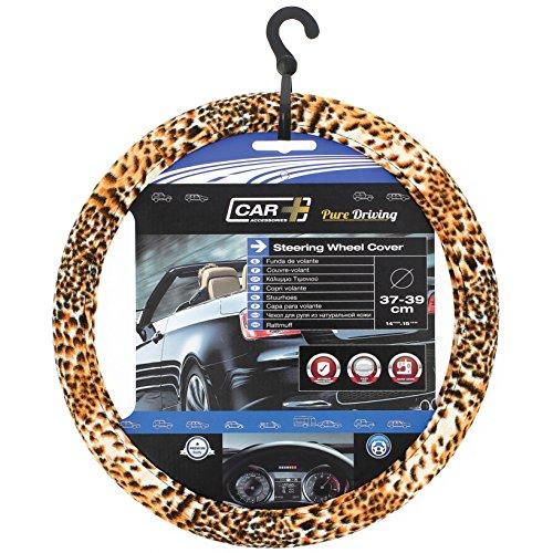 SUMEX 2505067 Carplus - Copri Volante Tessile Leopard Look, 37-39 cm