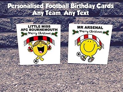 Personalised Any Football Team Christmas Card