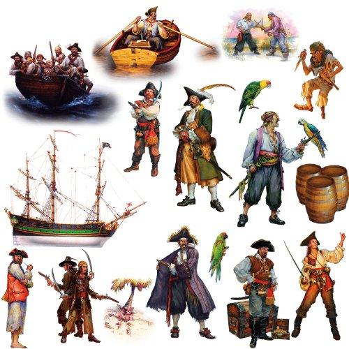 RoomMates Wiederverwendbare Wandsticker Piraten