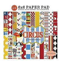 Carta Bella Paper Paper, Red,Orange, Cream, Yellow, Black, 6-x-6-Inch
