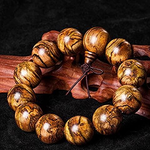 GTVERNH-bracelets authentiques perles fleur bizarre nan qi nan wood bracelets, colliers bracelet l'encens