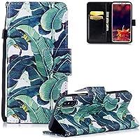 HMTECH iPhone XS Hülle Leder Elegant Retro Grünes Bananenblatt Flip Bookstyle Wallet Brieftasche Standfunktion... preisvergleich bei billige-tabletten.eu