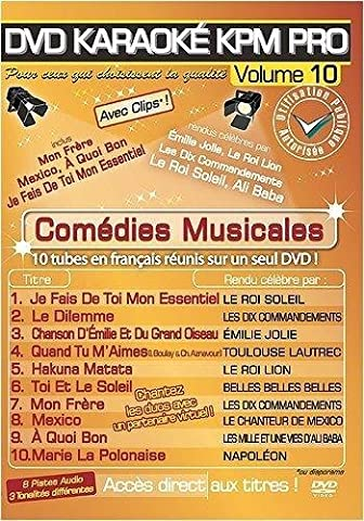 DVD Karaoké KPM Pro Vol.10 Comédies Musicales