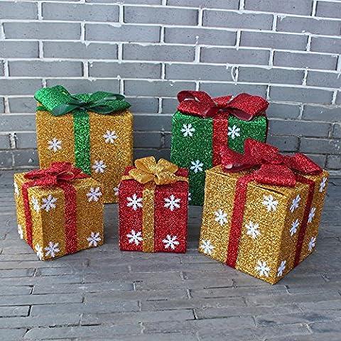 Natale Decorazioni Natale regalo scatola decorazione catena di centri commerciali imposta ornamento decorazione decorazione di Natale,Seta di ramiè Regina Rossa 25cm