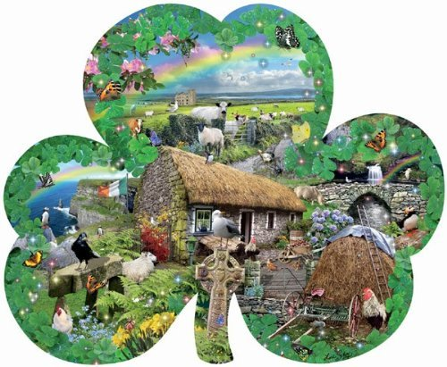 Der Zauber Irlands (Konturenpuzzle). Irish Charm. A Shaped Jigsaw Puzzle