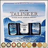 Talisker Single Malt Whisky 3er Set je 5cl Storm, Skye & 10 Jahre & 9 DreiMeister Edel Schokoladen, kostenloser Versand