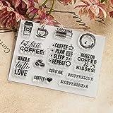 JAGENIE Kaffee Transparent Klar Silikon Stempel für DIY Scrapbooking Album DIY Dekor