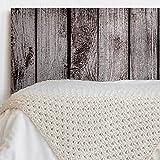 MEGADECOR Tête de lit en PVC décoratif économique Impression Texture Bois Planches vieillies Verticales peintes Blanc Plusieurs mesures