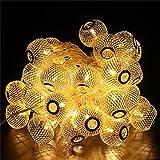 BlueFire 9.5m 50 LED Lampions Lichterkette Strombetrieben, 8 Beleuchtung Modi mit Fernbedienung Timer Wasserdicht für Garten/Haus/Hochzeit/Weihnachten/Party/Innen Außen Dekoration (Warmweiß)