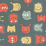 Baumwollstoff / Kinderstoff | die freundlichen Monster -