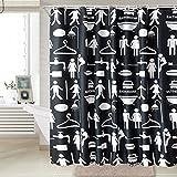 LFF- Gepolsterter Wasserdichter Mehltau-Badezimmer-Duschvorhang Jungen und Mädchen Blackout-Vorhänge Umweltschutz-geruchfreier Trennvorhang (Größe : 220 x 200 cm)