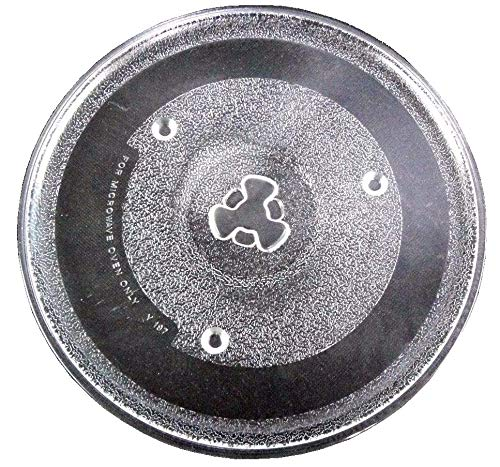 """Irkaja Microwave Oven Replacement Turntable/Rotating/Baking Glass Tray/Plate (Diameter: 270mm / 10.6"""" (Coupler))"""