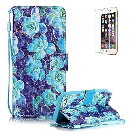 Für iPhone SE Strap Lanyard Brieftasche,Für iPhone 5S Wallet Flip